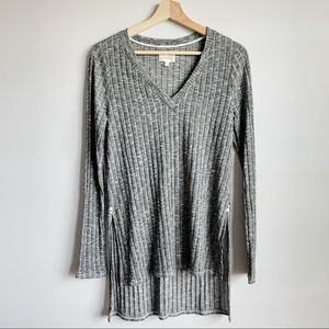 Anthropologie Deletta Long Sleeve Ribbed Top M